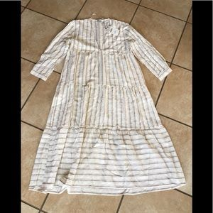 Zara NWT Woman's cream colored dress